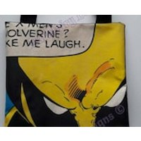 Comiccon Collection  a short handled bag with superhero print perfect for your books,crafts,crochet,knitting, hobbies Wolverine  Phoenix - Wolverine Gifts
