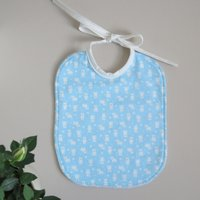 Cotton bib with cute bears on a heavenly background. Ideal for children from 0 to 2 years old. - Teddy Bears Gifts