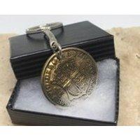 1928 90th birthday Half Crown coin keyring pre decimal - 90th Birthday Gifts
