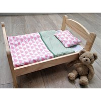 Unique Bedding Set for Dolls and Toys  Blanket/Duvet  Pillow Baby Born  Baby Annabell  Ikea Doll Bed - Baby Annabell Gifts