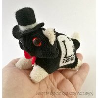 Elemental Cats: Lanthanum  OOAK handmade periodic table science art doll soft toy - Soft Toy Gifts