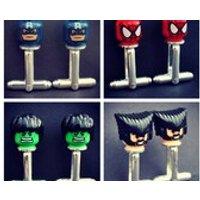 LEGO   Marvel Superhero  Spiderman, Hulk, Captain America, Wolverine, Thor, Superman Minifigure Cufflinks - Wolverine Gifts