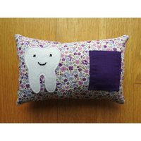 Tooth Fairy Pillow, Tooth Fairy Cushion, Tooth Pillow, Tooth Cushion. Handmade - Fairy Gifts