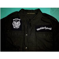 Motorhead WarPig Vintage Black Army Jacket Shirt Ace Of Spades Born To Lose Live To Win Raise Hell Rock n Roll Bomber Overkill - Motorhead Gifts