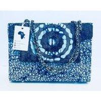 Handbag Handmade in Africa, shoulder bag / velvet inner lining, Pocket, Magnetic Closures. Gifts for her / presents / birthday / christmas - Shoulder Bag Gifts