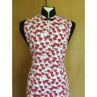 Vintage 1950s inspired Oriental laundry Hawaiian tea timer wiggle dress S only rockabilly VLV - Hawaiian Gifts