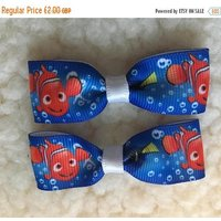 Black Friday sale Mini finding Nemo / Dory hair clips  sticking fillers, party favours, gifts for kids - Hair Gifts
