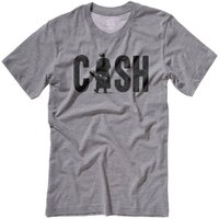 Unisex Johnny Cash Man In Black Vintage Style Screen Printed TShirt - Johnny Cash Gifts
