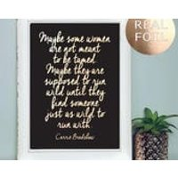 A4 Sex and the City Quote Print  Sex and the City Inspirational Quote  Carrie Bradshaw Quote  Rose Gold Home Decor Friendship Quote - Sex Gifts