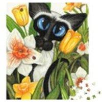 Jigsaw Puzzle Wall Art 1000 Pieces  Siames Daffodils by Amylyn Bihrle Modern  Art - Jigsaw Puzzle Gifts