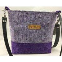 Handmade designer Harris Tweed shoulder bag, Scottish designer bag, Harris Tweed bag, Scottish bag. - Shoulder Bag Gifts