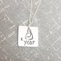 Breastfeeding Necklace  1 Year, Golden Boobies - Seek Gifts