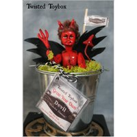Grow your own Devil  Ooak Display Doll Macabre Curiosity Unusual Gift. - Grow Your Own Gifts
