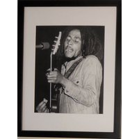 Music Icon Bob Marley Photo Print  Mount And Framed  30 Cms X 40 Cms - Bob Marley Gifts