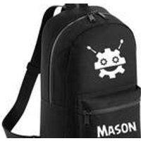 Personalised Kids Robot Mini Backpack  Custom Boys Childrens School Bag - Custom Gifts