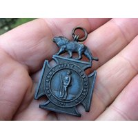 Vintage Bronze Fob Medal   Army Rifle Association (England) Shooting Medal  Rifleman Shorthouse - Shooting Gifts