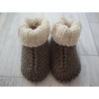 Hand Knitted Baby UGG Style Boots  Hand Knitted UGG Style Baby Booties  Merino Baby Boots  Merino Baby Booties  Super Soft Baby Boots - Ugg Gifts