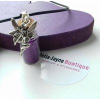 Purple wishes fairy bottle necklace - Fairy Gifts