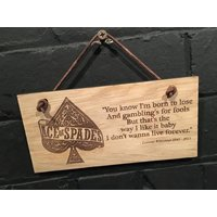 Lemmy from Motorhead quote You know Im born to lose And gamblings for fools... Shabby chic wooden plaque/wall sign. Great gift. - Motorhead Gifts