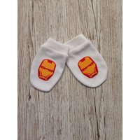 Iron Man Inspired Baby Scratch Mitts - Iron Man Gifts