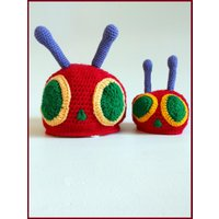 The Very Hungry Caterpillar Hat, Baby Hat, Crochet Hat, - The Very Hungry Caterpillar Gifts