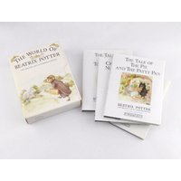 Beatrix Potter Johnny TownMouse Collection  Four Books  F. Warne  Co  Vintage Childrens Books  Nursery Decoration  Christmas Gift - Beatrix Potter Gifts