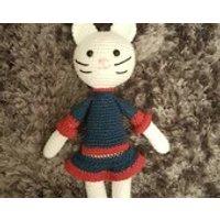 White Cat, Crochet soft toy, crochet dolls, crochet toys, amigurumi doll, crochet rabbit, nursery toys - Soft Toy Gifts