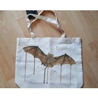 Brown Bat Bag, Watercolour Bat Tote, Bat Lover Gift, Gifts For Her, Flying Bat Shopping Bag, Stocking Filler Ideas, Fruit Bat Vampire Bat - Vampire Gifts
