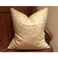 Beautiful Mustard Yellow and White Cushion Cover  Throw Pillow  Christmas  Kids Room  Nursery - Nursery Gifts