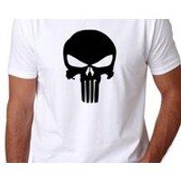 PUNISHER SKULL LOGO Marvel Spider man Inspired TShirt Frank Daredevil Tshirt Tee - Spider Man Gifts