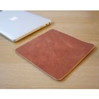 Tan Leather Mouse Pad Leather Desk Pad Handmade in London Custom Sizing Available - Computers Gifts