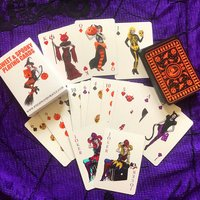 Alternative Playing Cards. Spooky. Macabre. Poker. Poker Cards. Day Of The Dead. Voodoo. Surreal. Witchcraft. Tarot. Skull. Black Cat. Devil - Poker Gifts