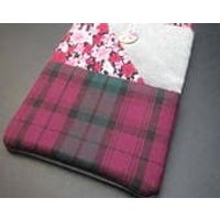 iPad mini 2 sleeve, iPad mini 4 case, fabric iPad case, Amazon fire pouch, 8 inch tablet case, E book cover, Galaxy TAB case, tartan  denim - Ipad Gifts