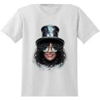 SLASH Graphic Tshirt Guitar Hero Head Band Funny Guns  Roses Rock Star Clothing - Guitar Hero Gifts