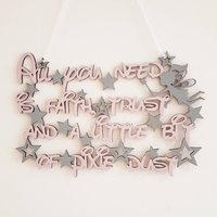 Disney Inspired Quote / Wooden hanging quote / Fairy Quote - Fairy Gifts