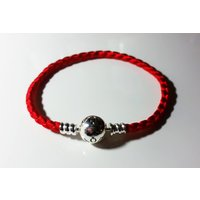 Red Nylon Braided Pandora Bracelet Sterling Silver S925 ALE - Pandora Gifts