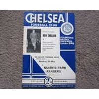 196768 Chelsea FC v QPR FC Original Official Ken Shellito Testimonial Football Match Programme Ideal Christmas Birthday Present - Chelsea Gifts
