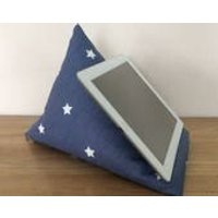Blue tablet pillow, iPad stand, star cushion, blue star pillow, iPhone stand, iPod holder, kindle stand, tablet cushion, gadget holder - Ipad Gifts