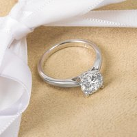 18ct White Gold Certified 1.70ct Diamond Engagement Ring - Engagement Ring Gifts