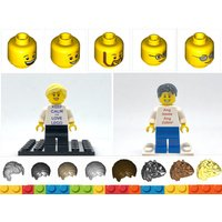 Personalised Lego Minifigure Build your own Minifig made with Lego! Look at ALL PICS for options! - Build Your Own Gifts