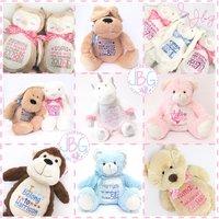 Personalised Teddy Bear,  teddy bears , Embroidered Baby Teddy, New baby gift,Personalised teddy bears - Teddy Bears Gifts
