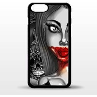 Vampire queen pin up girl cross tattoo graphic art cover for iphone 4 4s 5 5s 5c SE 6 6s 7 8 plus X phone case - Vampire Gifts