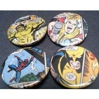 January Sale  10% off  Marvel superhero badges  25mm  Comic  Hero  Thor  Wolverine  Spiderman  Hulk  Comic panel  Pin back button - Wolverine Gifts