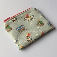 Handmade Cath Kidston Cowboy fabric coin purse/card pouch/dinner money purse  made in Cornwall - Money Gifts