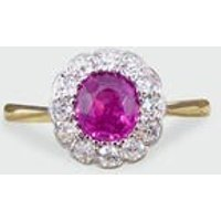 Edwardian  Ruby and Diamond Engagement Ring in 18ct Yellow Gold and Platinum RG496 - Engagement Ring Gifts