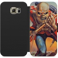 Iron maiden Eddie the trooper PSU leather flip wallet phone case for iphone 4 5 6 7, Samsung s2 s3 s4 s5 s6 s7 S8 S8 plus and more - Iron Maiden Gifts