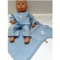Dolls Clothes 1415 inch (3638cm) Pyjamas  Sleep Sack to fit baby dolls such as Corolle Classique, My First Baby Annabell and similar - Baby Annabell Gifts