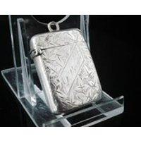 Sterling Silver Antique Vesta Case, Hallmarked Birmingham 1895, Joseph Gloster, Match Safe, Smokers, Smoking, Victorian, English, REF132A - Smoking Gifts