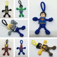 Superhero hulk, wolverine, flash, batman, superman, ironman, thor, spiderman, PARABUDDY keyring, zip puller  handmade in UK - Wolverine Gifts
