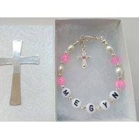 Personalised Holy Communion Bracelet ANY NAME Girls Communion Jewelry Religious Christian First Communion Gifts - First Holy Communion Gifts